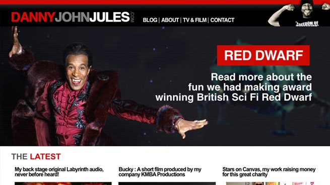 Celebrity Case Study : Danny John Jules new web site!