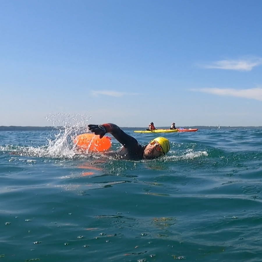 The Big Charity Swim from the Isle of Wight!